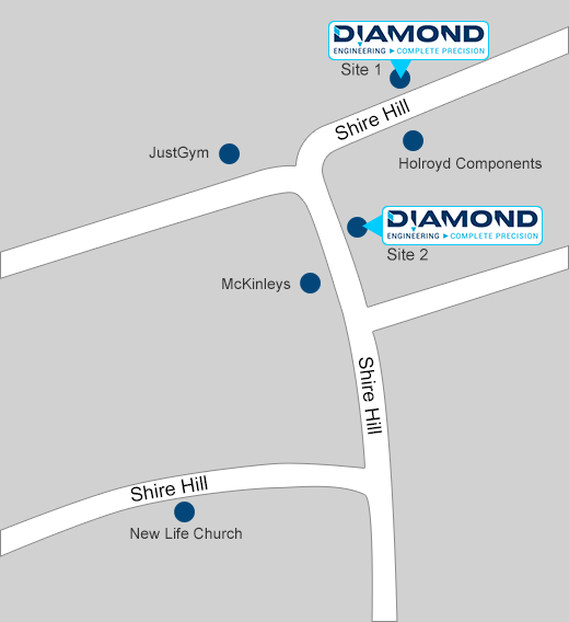 Diamond Engineering Location Map